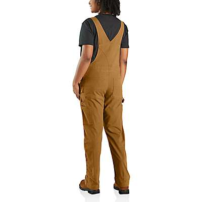 Carhartt Women's Dark Brown Crawford Double-Front Bib Overall - back