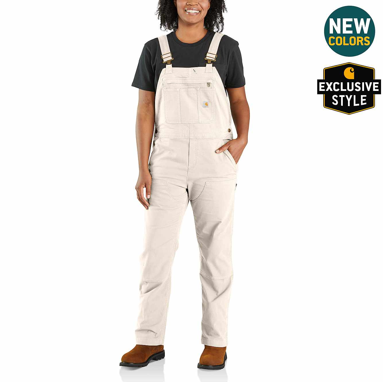 Picture of Crawford Double-Front Bib Overall in Natural