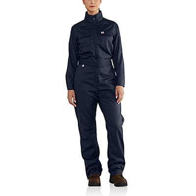 Carhartt  Dark Navy Women's FR Rugged Flex® Coverall - front