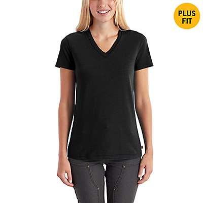 Carhartt Women's White Lockhart Short Sleeve V-Neck T-Shirt - front