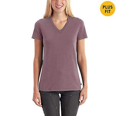 Carhartt Women's Navy Heather Nep Lockhart Short Sleeve V-Neck T-Shirt - back