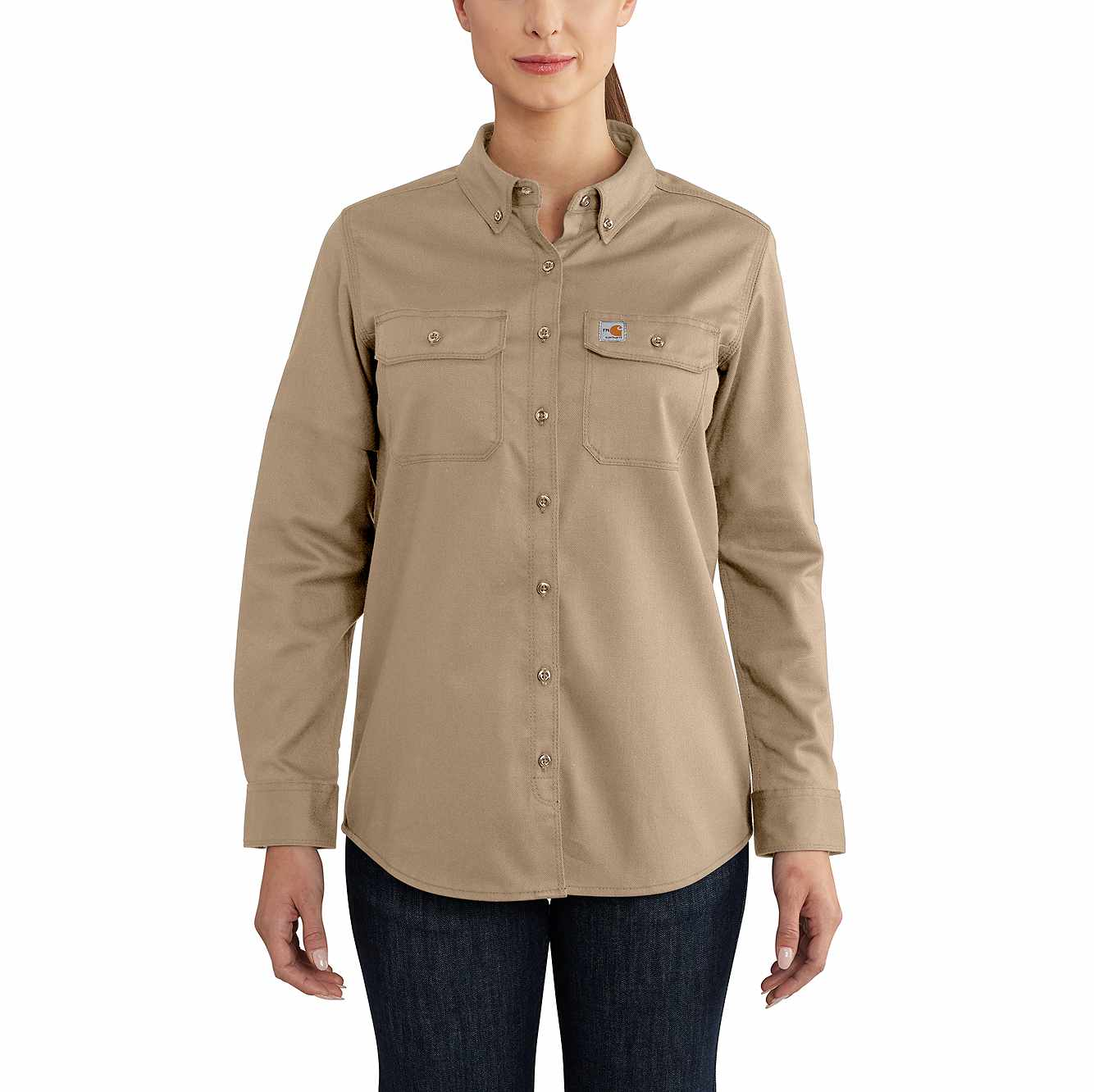 Picture of Women's FR Rugged Flex® Twill Shirt in Khaki