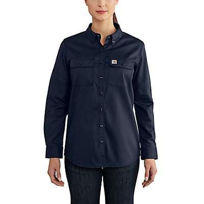 Carhartt  Dark Navy Women's FR Rugged Flex® Twill Shirt - front
