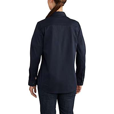 Carhartt  Dark Navy Women's FR Rugged Flex® Twill Shirt - back