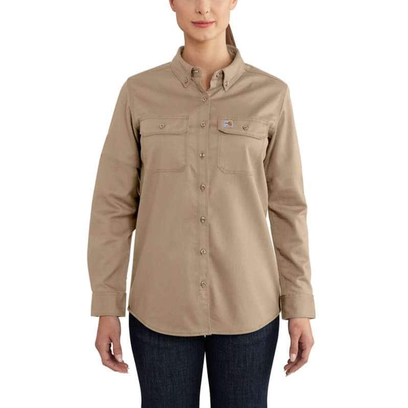 Carhartt  Khaki Flame-Resistant Rugged Flex® Twill Shirt