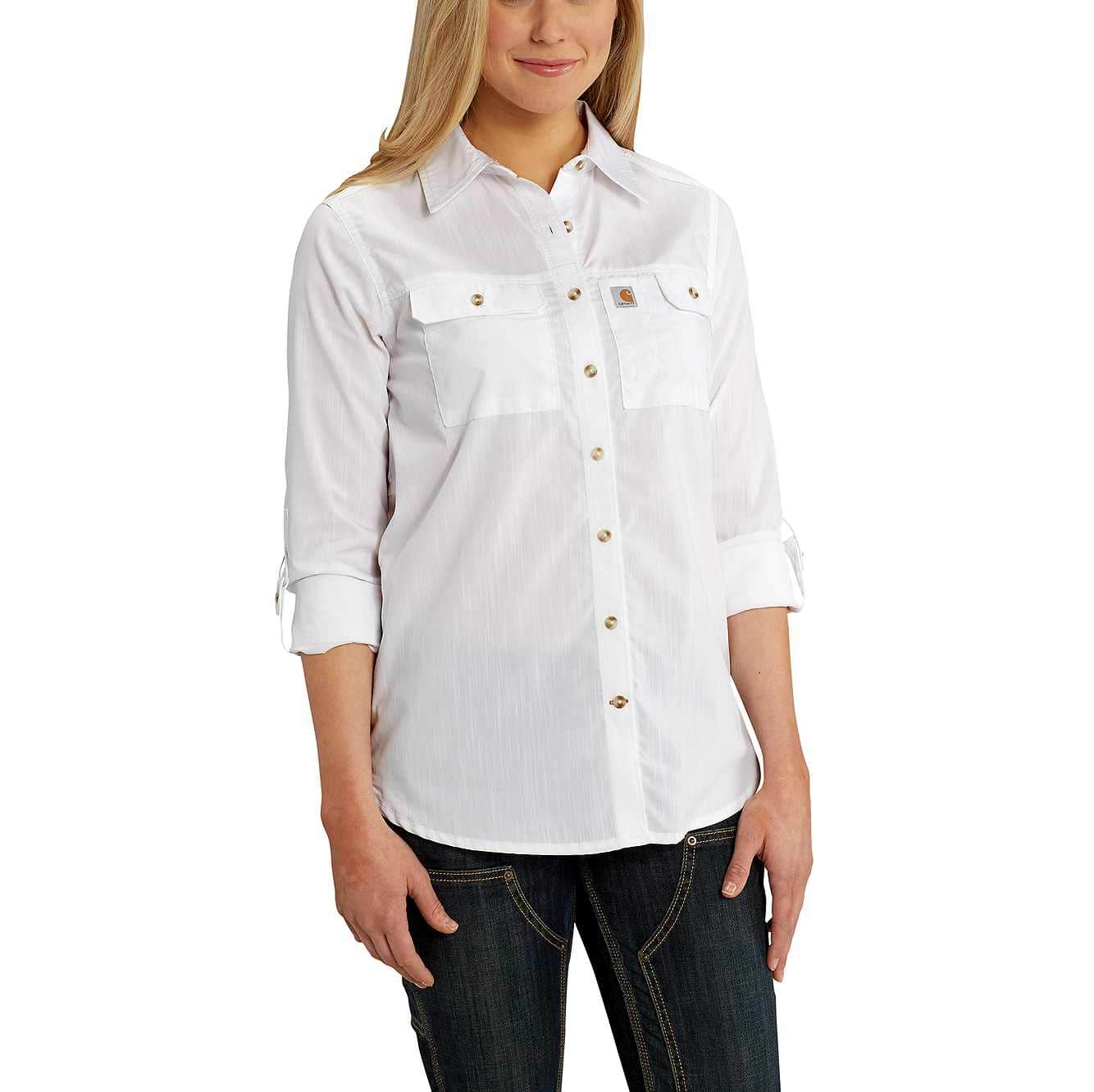 Picture of Carhartt Force® Ridgefield Shirt in White