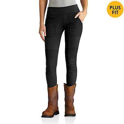Carhartt  Black Heather Carhartt Force® Utility Knit Legging - back