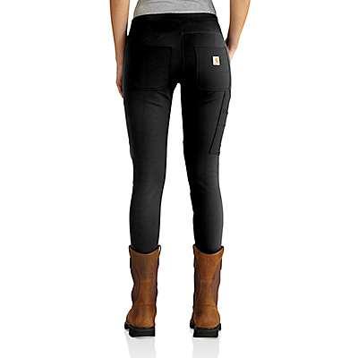 Carhartt Women's Black Heather Carhartt Force® Utility Knit Legging - back