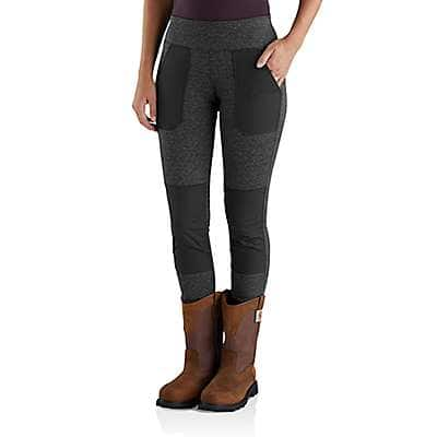 Carhartt Women's Black Heather Carhartt Force® Utility Knit Legging - front