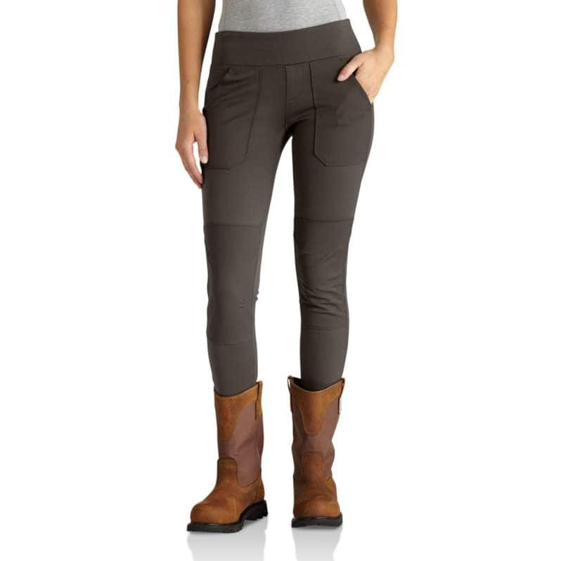 Carhartt  Dark Coffee Force Fitted Midweight Utility Legging