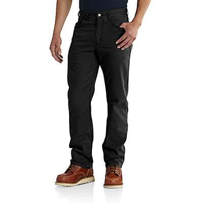 Carhartt Men's Black Rugged Flex® Rigby 5-Pocket Work Pant - front