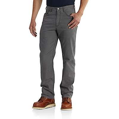 Carhartt Men's Black Rugged Flex® Rigby 5-Pocket Work Pant - back