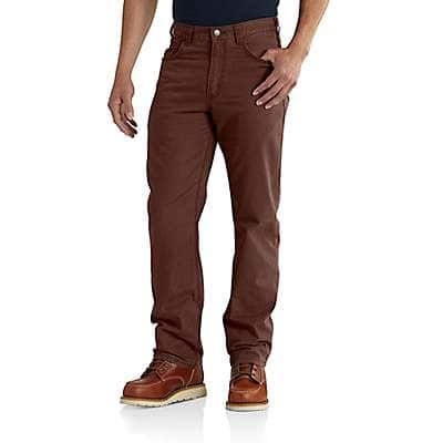 Carhartt Men's Mineral Red Rugged Flex® Relaxed Fit Canvas 5-Pocket Work Pant