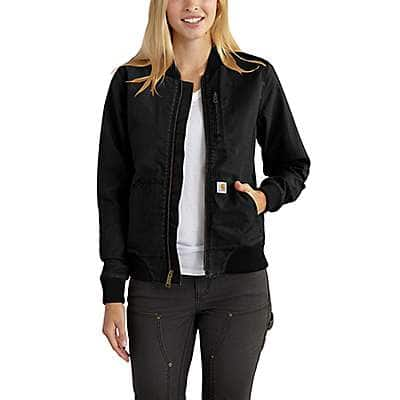 Carhartt Women's Carhartt Brown Crawford Bomber Jacket - front
