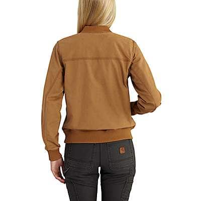 Carhartt Women's Carhartt Brown Crawford Bomber Jacket - back