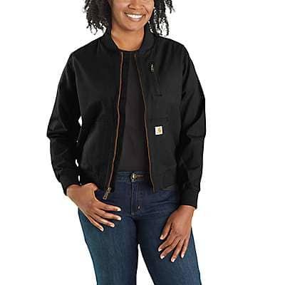 Carhartt Women's Black Rugged Flex® Relaxed Fit Canvas Jacket