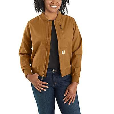 Carhartt Women's Carhartt Brown Rugged Flex® Relaxed Fit Canvas Jacket