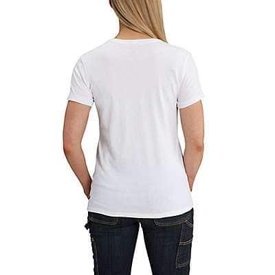 Carhartt Women's White Lockhart Short-Sleeve Pocket T-Shirt - back