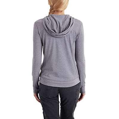 Carhartt Women's Asphalt Heather Force Ferndale Zip-Front Hoodie - back