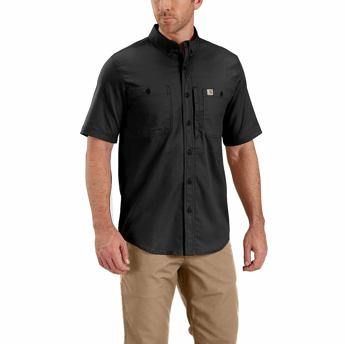 Picture of Rugged Professional™ Series Men's Short-Sleeve Shirt in Black