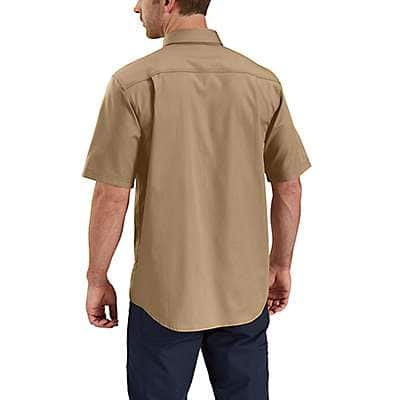 Carhartt Men's Navy Rugged Professional™ Series Men's Short-Sleeve Shirt - back