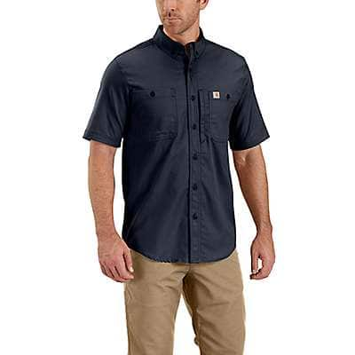 Carhartt Men's Navy Rugged Professional™ Series Men's Short-Sleeve Shirt - front