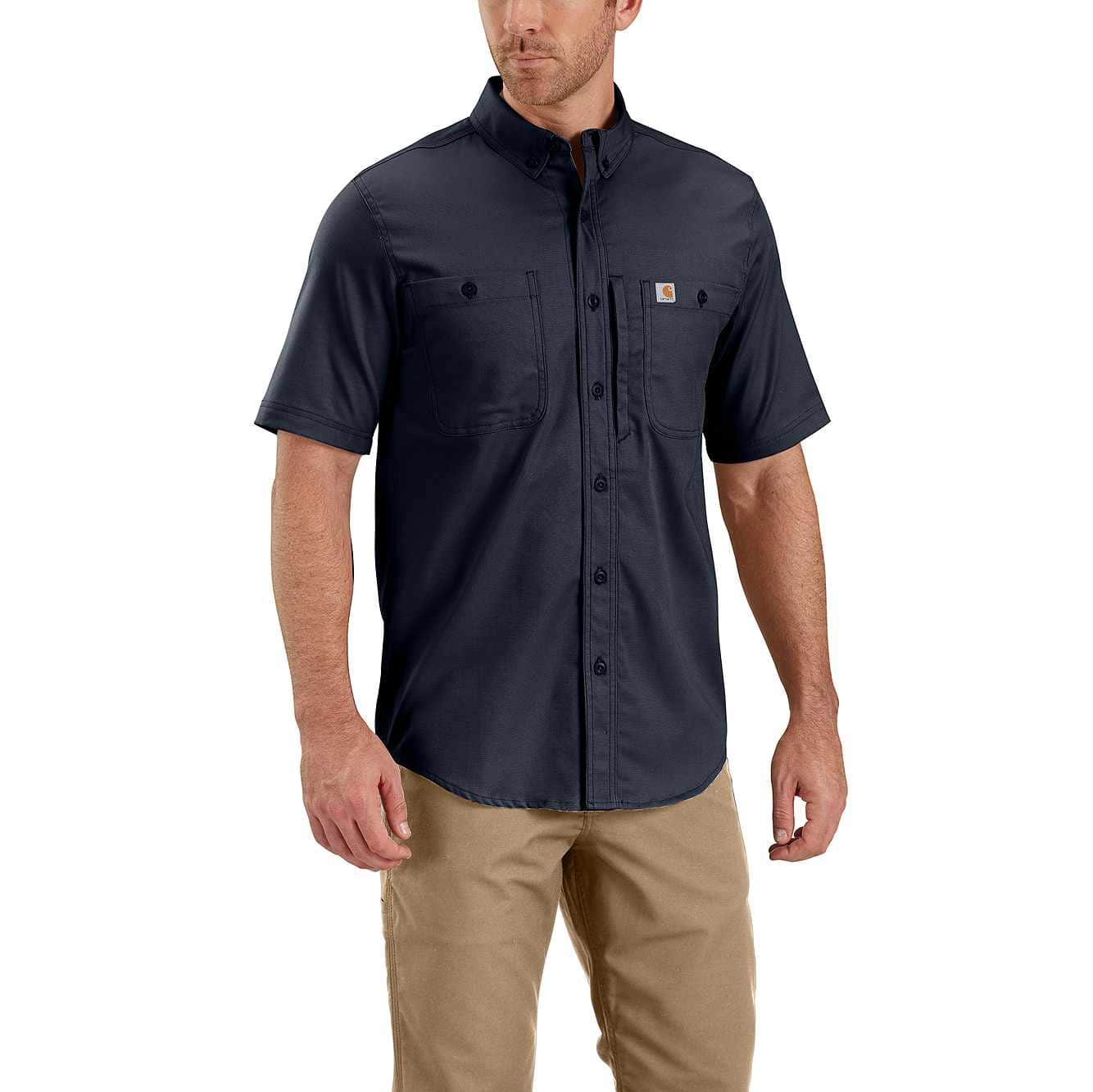 Picture of Rugged Professional™ Series Men's Short-Sleeve Shirt in Navy