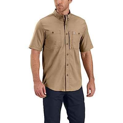 Carhartt Men's Dark Khaki Rugged Professional™ Series Short-Sleeve Shirt