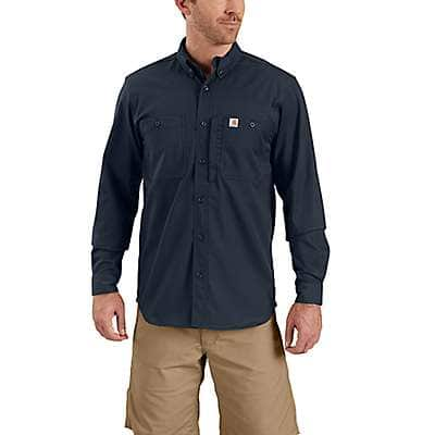 Carhartt Men's Navy Rugged Professional™ Series Men's Long-Sleeve Shirt - front