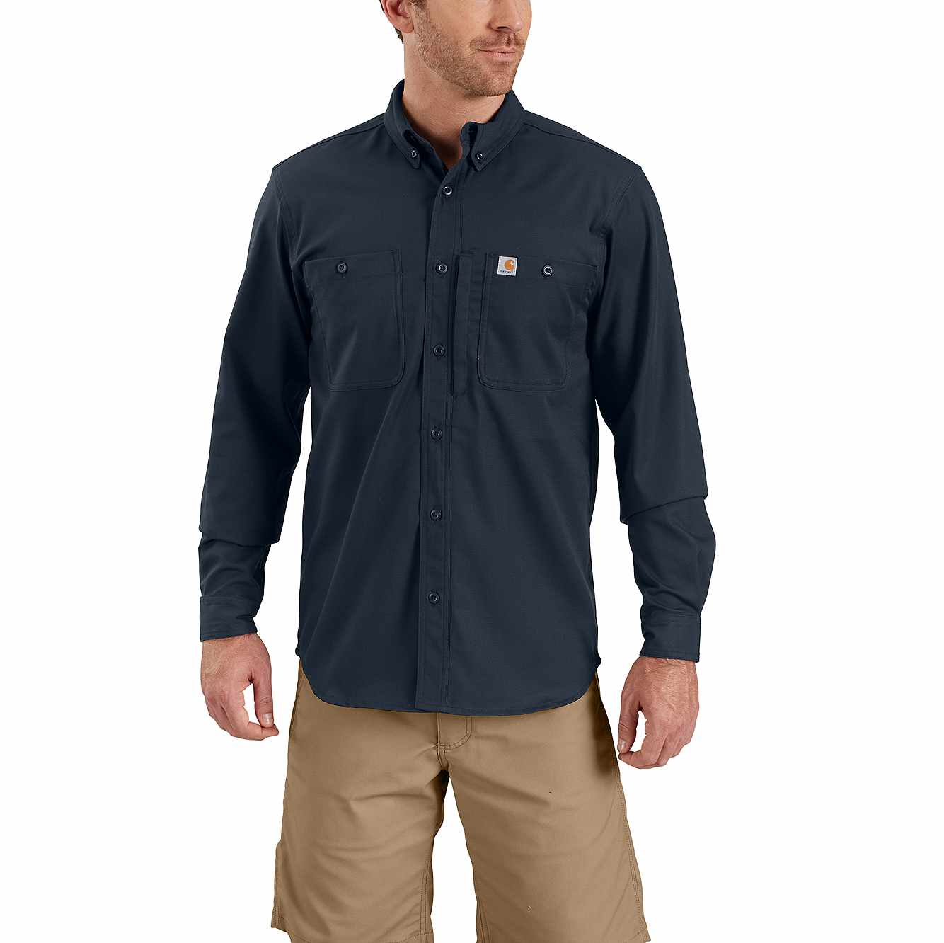 Picture of Rugged Professional™ Series Men's Long-Sleeve Shirt in Navy