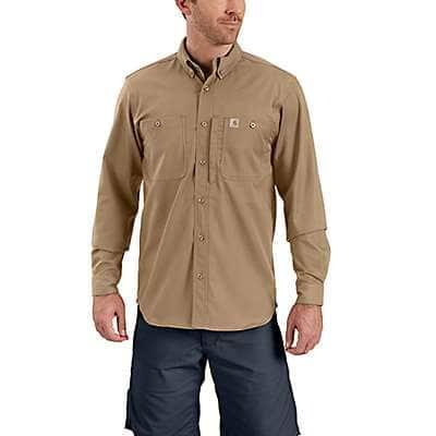 Carhartt Men's Dark Khaki Rugged Professional™ Series Long-Sleeve Shirt