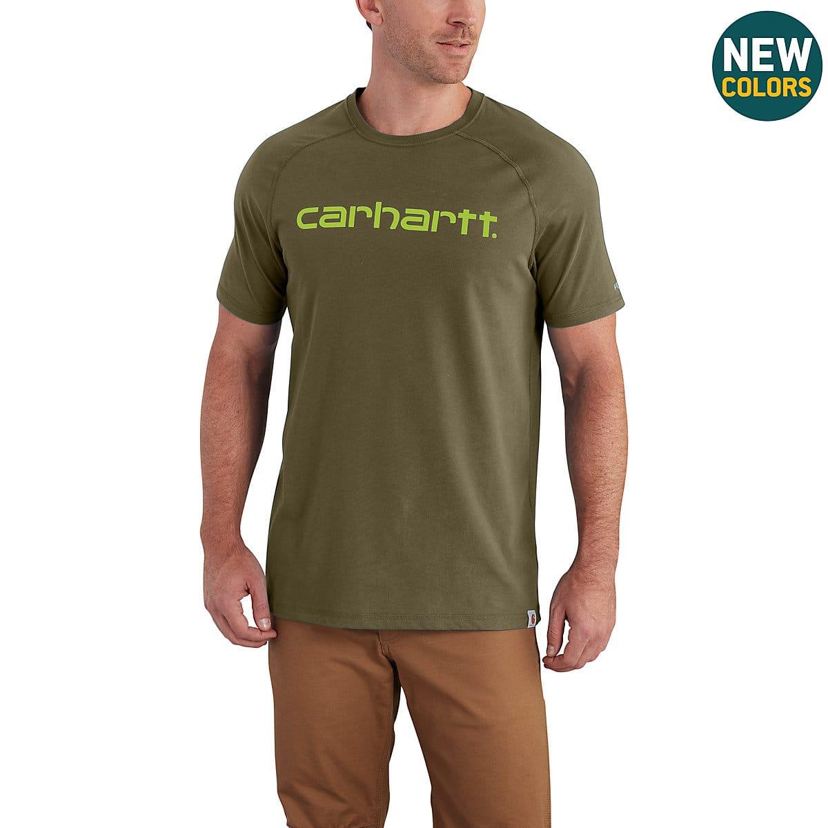 f7733e48989c Men s Carhartt Force® Cotton Delmont Graphic Short Sleeve Shirt ...