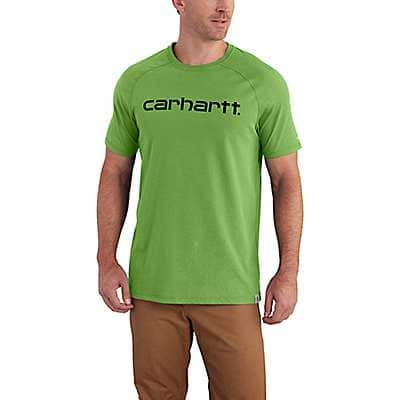 Carhartt Men's Foliage Carhartt Force® Cotton Delmont Graphic Short Sleeve Shirt - front