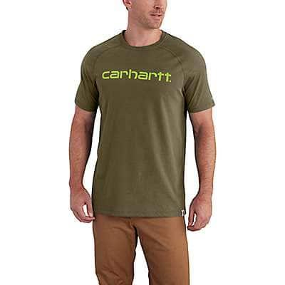 Carhartt Men's Moss Force Relaxed Fit Midweight Short-Sleeve Graphic T-Shirt