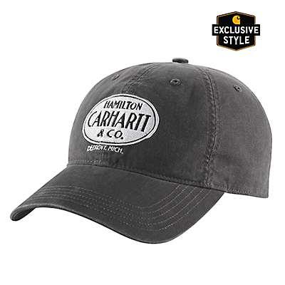 Carhartt Men's Black Hamilton Carhartt Graphic Cap - front