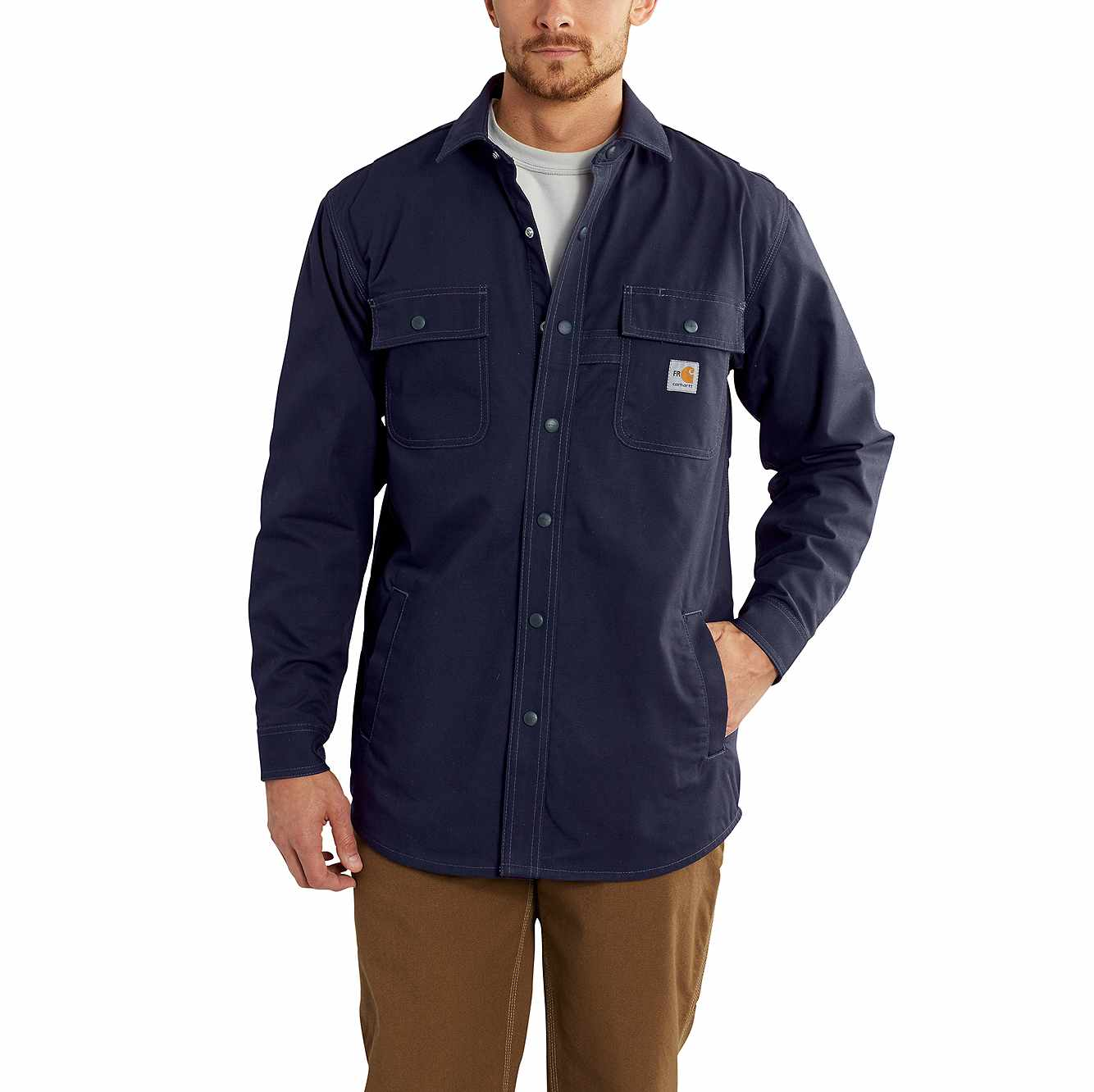 Picture of Flame-Resistant Full Swing® Quick Duck® Shirt Jac in Dark Navy