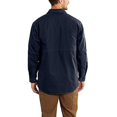 Carhartt  Dark Navy Flame-Resistant Full Swing® Quick Duck® Shirt Jac - back