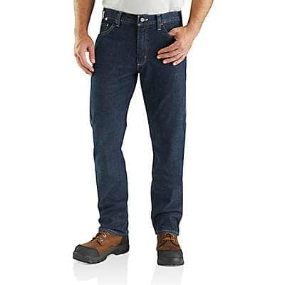 Carhartt Men's Deep Indigo Wash Flame-resistant Rugged Flex® Jean - Relaxed Fit - front