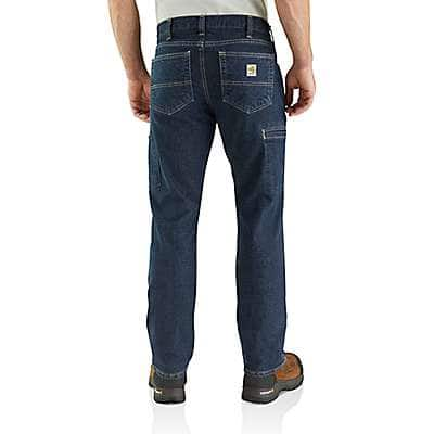 Carhartt Men's Deep Indigo Wash Flame-resistant Rugged Flex® Jean - Relaxed Fit - back