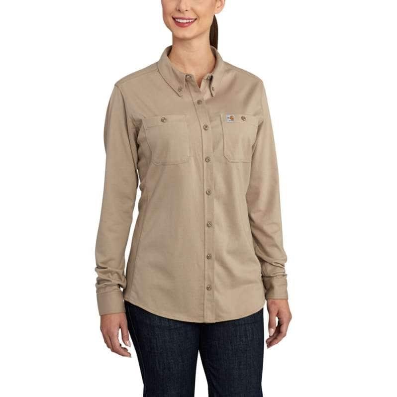 Carhartt  Khaki Flame-Resistant Force Cotton Hybrid Shirt