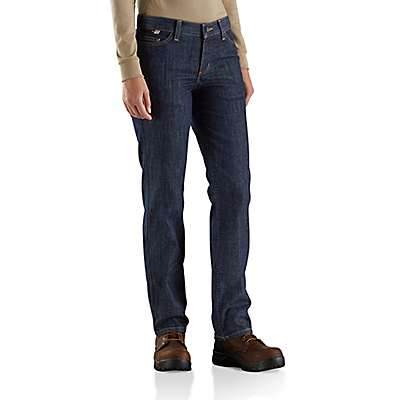 Carhartt Women's Premium Dark Women's FR Original-Fit Rugged Flex® Jean - front