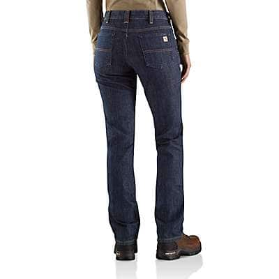 Carhartt Women's Premium Dark Women's FR Original-Fit Rugged Flex® Jean - back