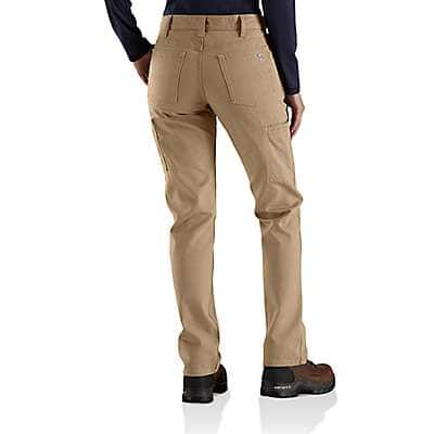 Carhartt  Golden Khaki Women's FR Original-Fit Rugged Flex®Canvas Pant - back