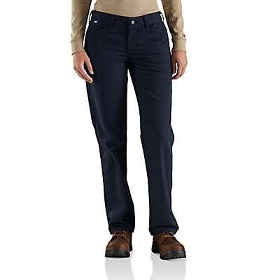 Carhartt  Dark Navy Women's FR Original-Fit Rugged Flex®Canvas Pant - front