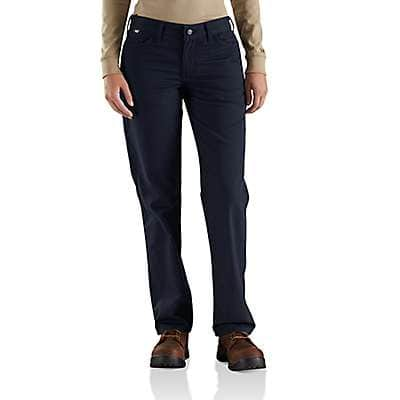 Carhartt Women's Dark Navy Women's FR Original-Fit Rugged Flex®Canvas Pant - front