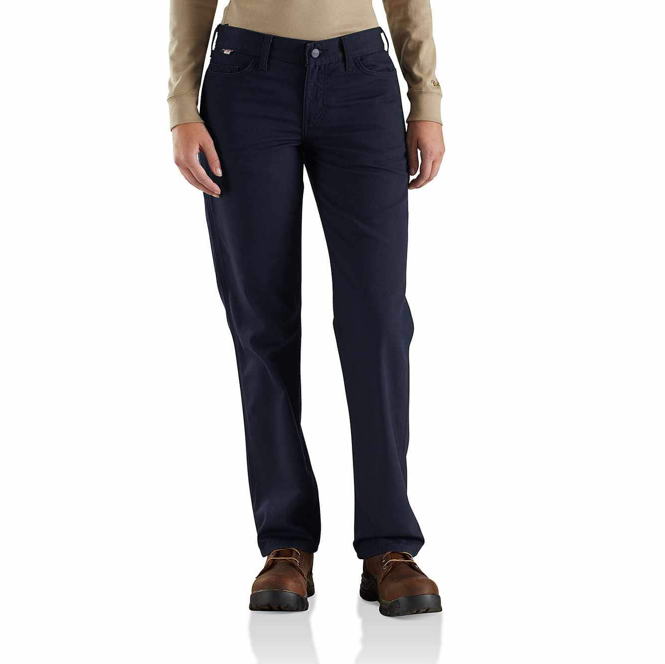 Picture of Women's FR Original-Fit Rugged Flex®Canvas Pant in Dark Navy