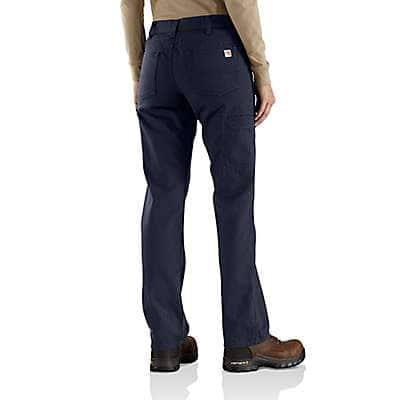 Carhartt Women's Dark Navy Women's FR Original-Fit Rugged Flex®Canvas Pant - back