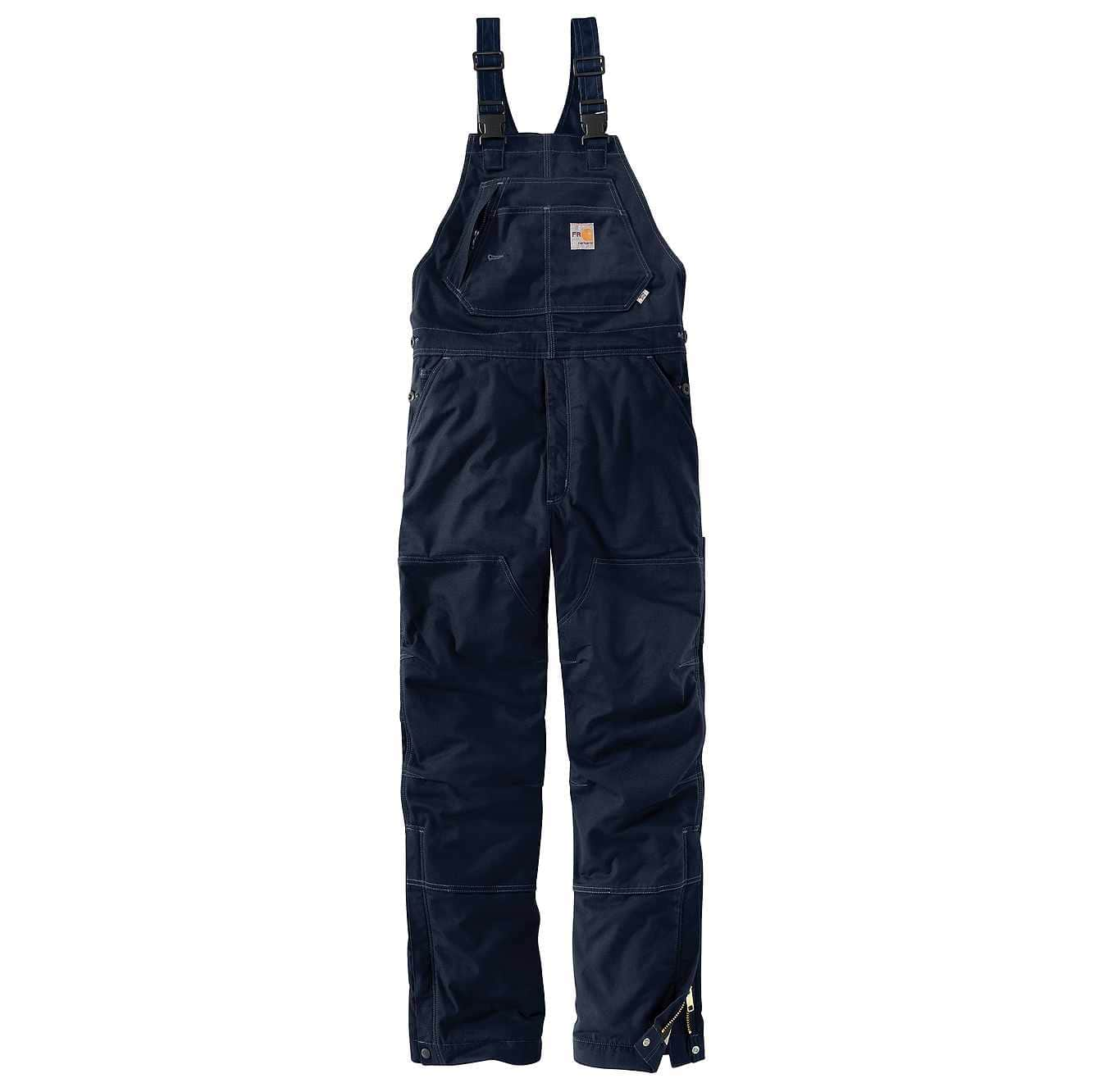 Picture of Flame-Resistant Quick Duck® Bib Overall/Quilt-Lined in Dark Navy