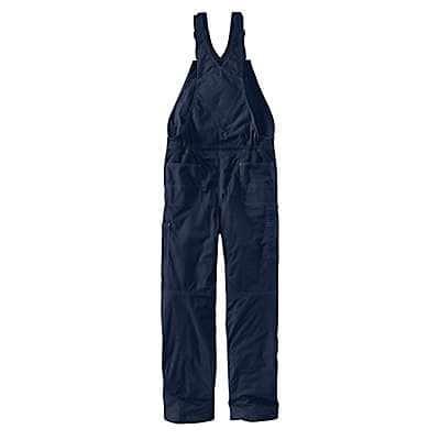 Carhartt Men's Dark Navy Flame-Resistant Quick Duck® Bib Overall/Quilt-Lined - back