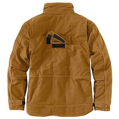 Carhartt Men's Dark Navy Full Swing® Quick Duck® Flame-Resistant Lanyard Access Jacket - back